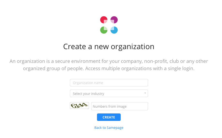 Create new org step 4