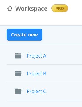 Folder as a Project