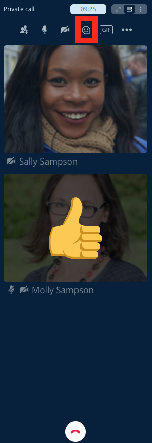 Send emoji