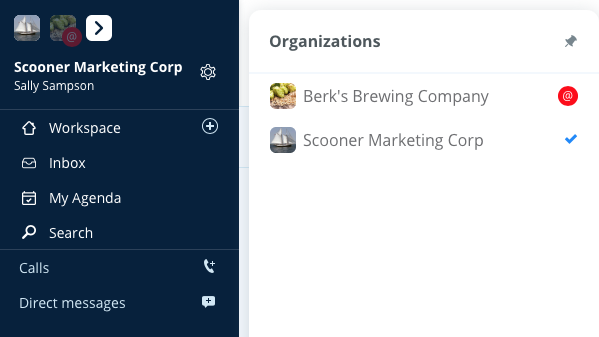 Switch Organizations